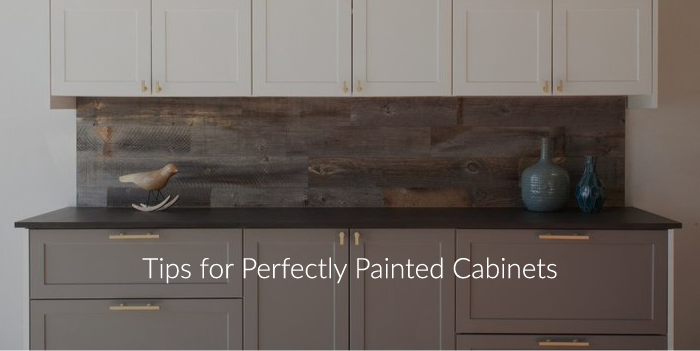 Tips for Perfectly Painted Cabinets